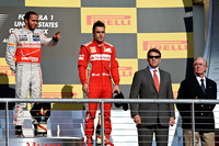(L-R) Lewis Hamilton, (Frenando Alonso, Rick Perry and Nick Craw