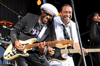 Nile Rodgers (L) and Jerry Barnes